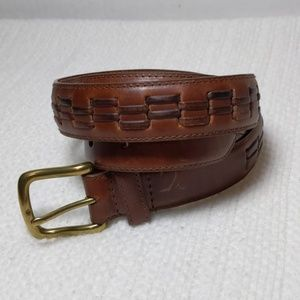 """40""""  Woven Inlay leather belt handcrafted in China"""